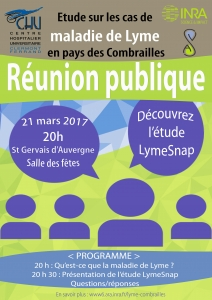 Lyme Combrailles LymeSnap réunion pubique 21 mars 2017