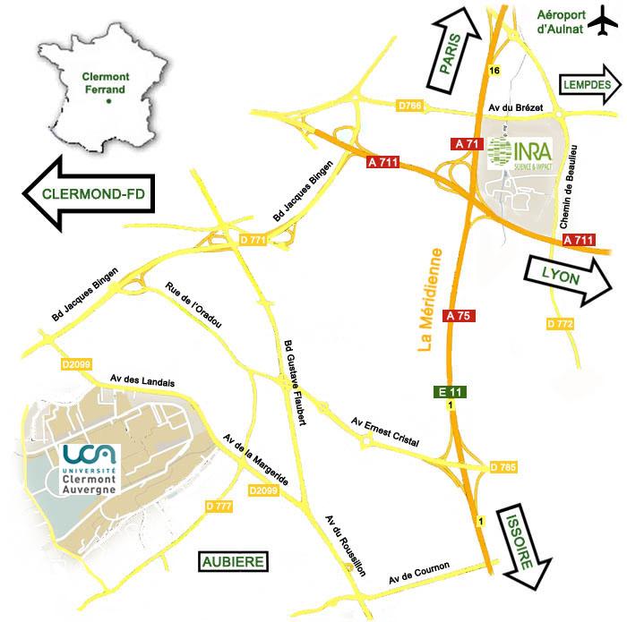 Plan d'ensemble avec les deux sites
