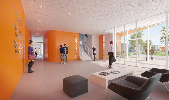 Projet hall d'accès du nouveau bâtiment